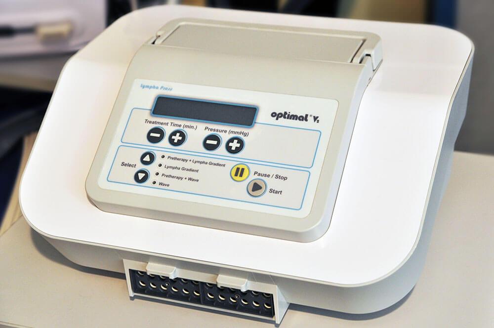 División Médica - máquina de lympha press optimal gradient v2