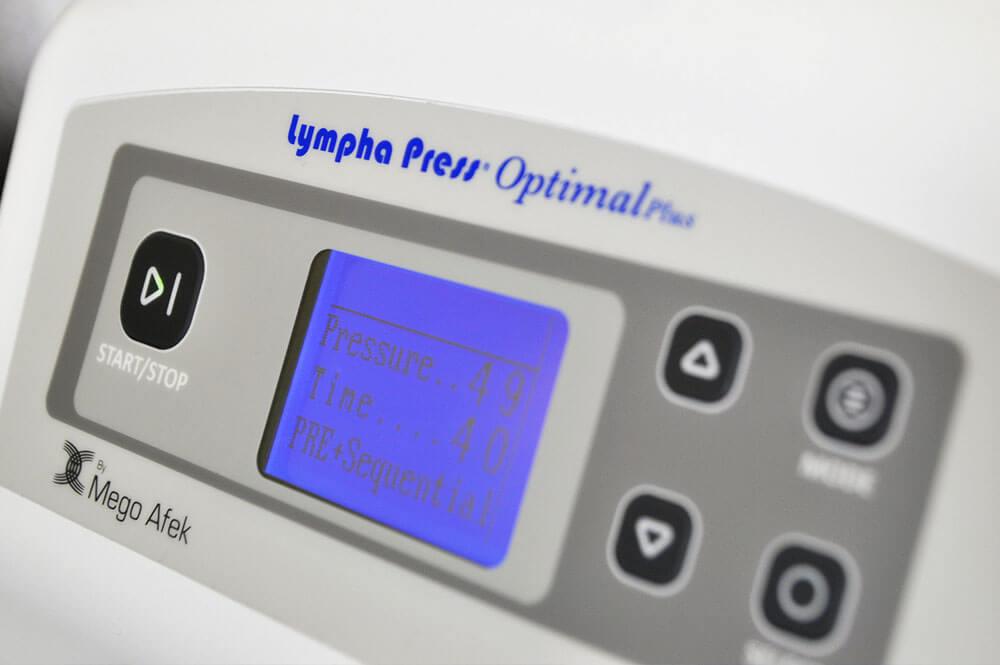 División Estética de cincos - lympha press optimal plus